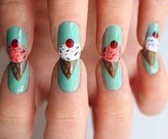 ice cream nail art - too cute