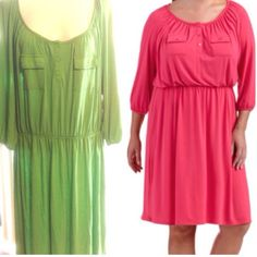 1 DAY SALE Casual dress 4X ( 6 available) NWT green 3/4 sleeve dress, lightweight, elastic waist. Super comfy and soft. 4X. 7 dresses available don't buy this listing I'll create a new one for you. I'm open to offers. Thank you Faded Glory Dresses Midi