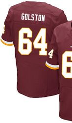 "$78.00--Men's Nike Washington Redskins #64 Kedric Golston Elite Burgundy Red Team Color NFL Jersey,Free Shipping! Buy it now:click on the picture, than click on ""visit aliexpress.com"" In the new page."
