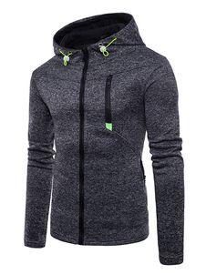 a713040c7e3 Sudadera con capucha para hombre con cremallera y manga larga Sudadera con  capucha y manga larga