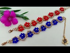Bracelet Making How To//Easy Crystal Bracelet// Useful & Easy - Modern Design Simple Bracelets, Seed Bead Bracelets, Crystal Bracelets, Jewelry Bracelets, Earring Tutorial, Bracelet Tutorial, Beaded Jewelry Patterns, Bracelet Patterns, Bead Jewelry