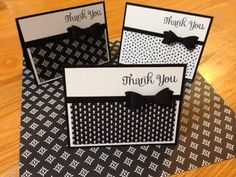 """Everyday Chic Designer Series Paper from Stampin' Up"" - Jan Farring - Jun Making Greeting Cards, Greeting Cards Handmade, Handmade Thank You Cards, Tarjetas Stampin Up, Thank U Cards, Stamping Up Cards, Cute Cards, Easy Cards, Cards Diy"