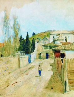левитан.улица в ялте, 1886