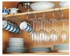This adaptable storage Rack can be hunged from your cupboard shelves to create extra storage in your kitchen. Chrome Rack Cup Holder. Cup holder can be simply hooked on to a shelf. | eBay!