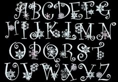 FROSTED FLAKES ---102 Machine Embroidery Font Pack (AzEB). $9.95, via Etsy.