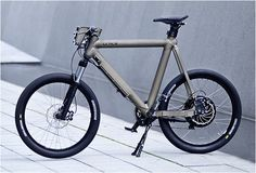GRACE URBAN E-BIKE...street legal...features a 500 to 1300 watts of power and reaches speeds of 45km/h, it is built with lothium-ion technology incased in a watertight and ultralight CNC-aluminium frame. It is custom built and handmade in Berlin Germany, you can choose from 3 different frame types and 64 different colors.