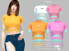 Tri Top for the Sims 4 The Sims 4 Pc, Sims Four, Sims 4 Cas, My Sims, Sims Cc, Los Sims 4 Mods, Sims 4 Game Mods, Sims 4 Mods Clothes, Sims 4 Clothing