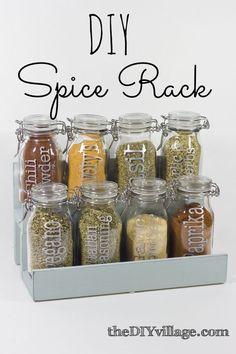 DIY: spice racka