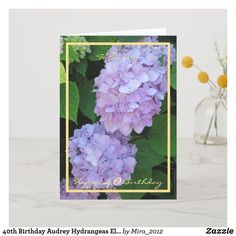 Happy Retirement Wishes Purple Hydrangeas Elegant Card 1st Wedding Anniversary Wishes, Golden Anniversary Gifts, Happy Anniversary Cards, Anniversary Flowers, Ruby Anniversary, 30th Birthday Cards, Happy 30th Birthday, Birthday Gifts, Happy Retirement Wishes
