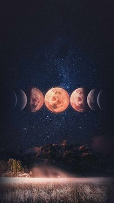 Moon Phases Wallpaper - iPhone Wallpapers
