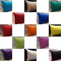 100% cotton pillow case solid euro king queen twin toddlers travel standard  #saffron #Novelty
