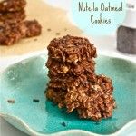 No Bake Nutella Oatmeal Cookies - gluten free!