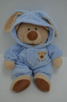 """Ty Pluffies Love To Baby Teddy Bear Plush Blue Non Removable Pajamas PJ 2005 12"""" #Ty http://stores.ebay.com/Lost-Loves-Toy-Chest/_i.html?image2.x=27&image2.y=9&_nkw=ty+pluffies"""
