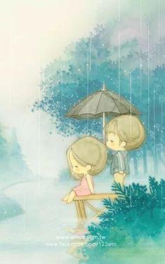 Debaixo da chuva
