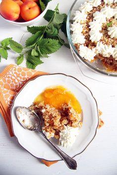 apricot dessert cream Apricot Crumble Dessert
