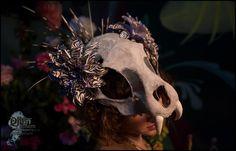Custom Vegan Animal skull headdress by AllThingsEcco on Etsy