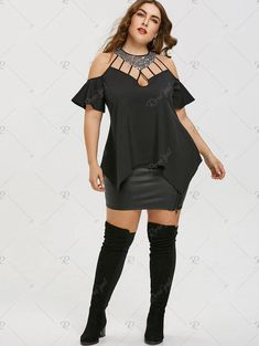 ee1b021bef4 Plus Size Bell Sleeve Sequined Blouse Use Code  RGBF1 Get 25% OFF Discount!