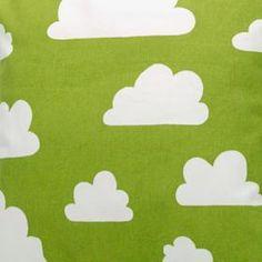 Tyg Moln, grön