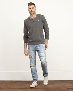 Mens A&F Skinny Button Fly Jeans | Mens Jeans | Abercrombie.com