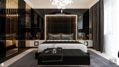 Bedroom Black, Modern Bedroom, Master Bedroom, Elegant Bedroom Design, Bedroom Designs, Bedroom Photos, Man Room, Home Decor Bedroom, Bedroom Ideas