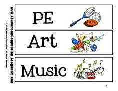 FREE Classroom Subject Labels Preschool Classroom Rules, Classroom Labels, Subject Labels, Elementary Science, Best Wordpress Themes, Diy Wall Art, Reading Comprehension, Art Music, Classroom Management