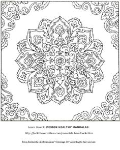 Fantasy Coloring Pages for Adults   Free Mandala Coloring Book Printable Pages