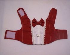 DIY Pet Clothes : DIY Formal Red Pinstripe Dress Tuxedo Harness for Pets by mypupstuff Animal Projects, Animal Crafts, Dog Clothes Patterns, Sewing Patterns, Dress Patterns, Puppy Clothes, Ferret Clothes, Dog Items, Dog Pattern