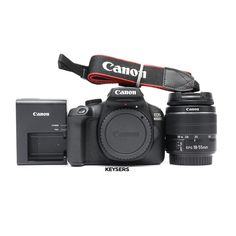 The #Canon 4000D Body features Full HD movies, 18 Megapixels, instant sharing, and shooting remotely via your compatible smartphone with Wi-Fi and the Canon #Camera Connect app. Used Cameras, Camera Equipment, Canon Ef, Hd Movies, Eos, Wi Fi, Charger, Connect, Smartphone