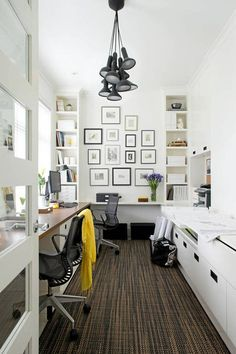 Home Office Space In Bedroom Shared. In 2019 Zimmerdekoration Schreibtisch Dekor . 20 Shared Home Office Ideas That Are Functional Interior God. How To Plan Your Home Office Setup Bunnings Warehouse. Home and Family Home Office Space, Home Office Design, Home Office Decor, House Design, Home Decor, Office Ideas, Office Style, Small Office, Shared Office