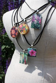 Plant tag pendants made with Dimensional Magic