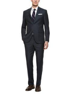 Micro Line Navy Suit by Prima Collezione Uomo on Gilt.com