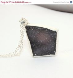 Clearance Sale 50% off Brown druzy necklace, sparkling rough crystalline drusy, metalwork pendant, sterling silver pendant, geometric penda on Etsy, $70.00