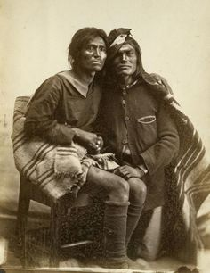 """Photo of a Navajo same-sex couple from the film """"Two Spirits"""" taken in 1866. Courtesy of Bosque Redondo 1866/Museum of New Mexico - After a long history of acceptance, same-sex marriages were no longer recognized in the Navajo nation in 2005, but this shows signs of changing."""