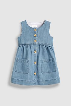 Pretty girls' dresses in denim, skater & midi styles to add to her everyday wardrobe. Frocks For Girls, Little Girl Dresses, Girls Dresses, Midi Dresses, Girls Frock Design, Baby Dress Design, Baby Frocks Designs, Kids Frocks Design, Toddler Fashion