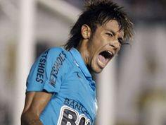 Neymar from Santos F. Neymar Jr, Fc Barcelona, Soccer, Football, My Love, Ham, Brazil, Fitness, Pictures