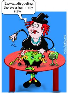 Funny Witch Cartoon Card - Halloween - maggot stew Halloween Cartoons, Halloween Pictures, Halloween Cards, Vintage Halloween, Fall Halloween, Happy Halloween, Halloween Humor, Halloween Night, Cartoon Jokes
