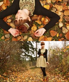 Quintessentially Fall (by The Clothes Horse Roe) http://lookbook.nu/look/332985-Quintessentially-Fall  a want a picture with the leaves!