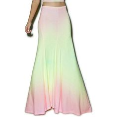 Wildfox Couture Rainbow Brite Maxi Verona Skirt ($26) ❤ liked on Polyvore…