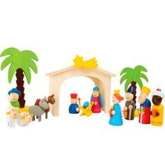 Wooden Nativity Play Set Christmas Nativity Kids Nativity Wooden Christmas NEW Wooden Nativity Sets, The Nativity Story, Wooden Toys, Palmiers, Flying Pig, A Christmas Story, Christmas Nativity, Creative Thinking, Made Of Wood