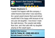 I couldn't be happier with this company. I called heavens best when I was searching for a...
