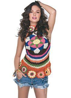 Crochetemoda: Isis Valverde - Blusa de Crochet