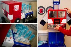 Pure Joy Events: Transformers Birthday Party robot lollipop favors                                                                                                                                                     More