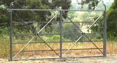 A range of heritage style farm gates with horizontal bars. Various designs including heritage cast jointed gates and wrought iron gates. Farm Gate, Fence Gate, Fencing, Front Gates, Entrance Gates, Wrought Iron Fences, Backyard Garden Design, Fence Design, Garden Structures