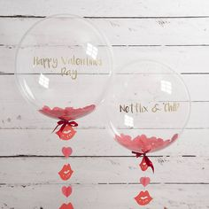 personalised valentine heart confetti balloon by bubblegum balloons | notonthehighstreet.com