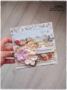Handmade Congratulations Card 3D greeting card by MaremiSmallArt