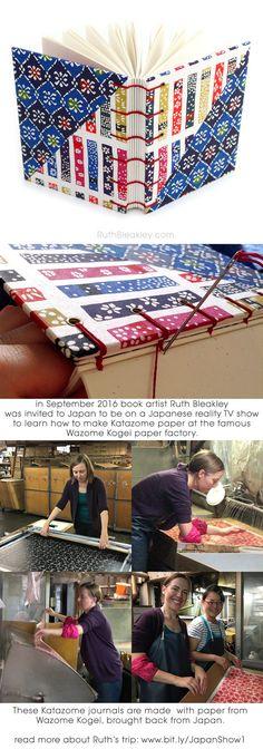 Japanese Katazome Journal Handmade Blank Book by RuthBleakley