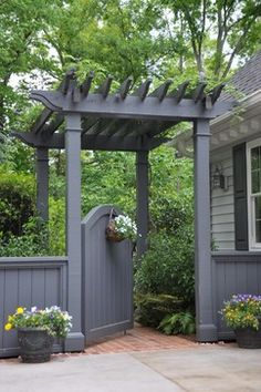 Arbor with gate. In my future.