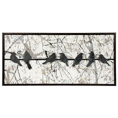 Bird Metal Wall Art french-wall-art-decor-birds-metal-cut-out-new-rust-finish-indoor