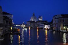 Night Falls on the Grand Canal in Venice