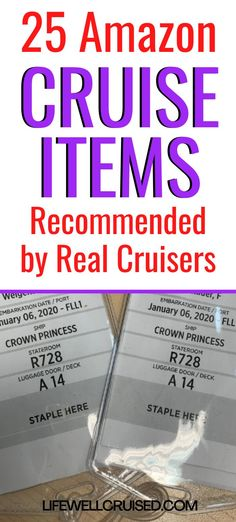 Planning for your upcoming cruise? These 25 cruise essentials are most recommended by real cruisers who find them practical and useful. All items sold on Amazon, which are great choices for your cruise cabin and packing. #cruiseessentials #cruiseitems #cruise #cruisegifts #travelgifts